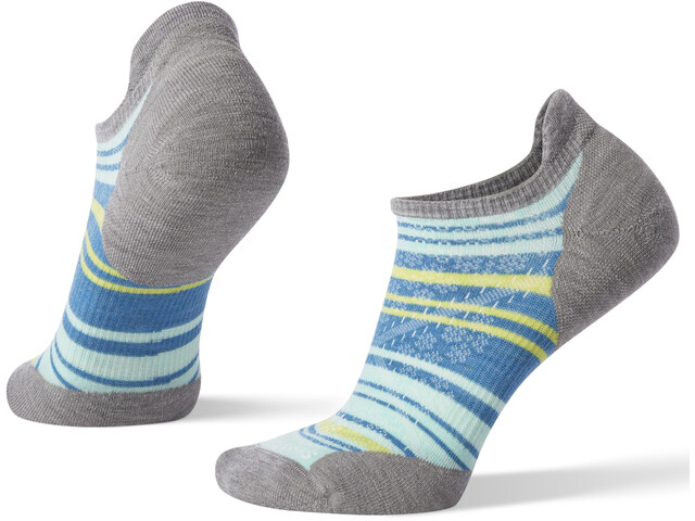 Smartwool PhD Run Light Elite Striped Micro Socks Damen light gray/mint